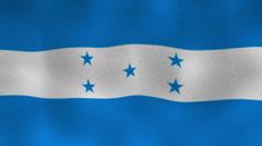 Honduras Flag, Textile Background Stock Footage