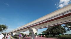 Disney Monorail 1 Stock Footage
