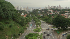 Sao Paulo Panorama city centre from high point Stock Footage