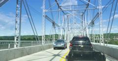 4K Stuck in Traffic on a Bridge Stock Footage