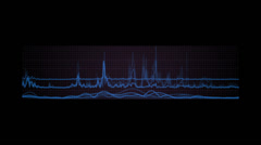 Stock Video Footage of Tron Waveform 1