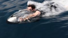 Seabob- Underwater Jet Ski Stock Footage