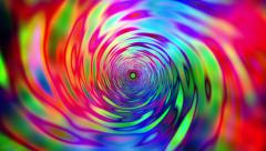 Tunnel travel psychedelic hippie colors Stock Footage