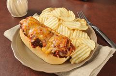 Italian meatball sandwich Stock Photos