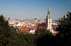 Bratislava,the capital of Slovakia St. Martin's Cathedral - stock photo