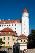 Castle of Bratislava,the capital of Slovakia - stock photo