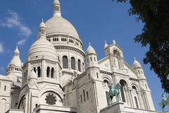 Paris Sacre Coeur Montmartre Stock Photos