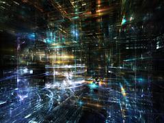 Fractal World Communications - stock illustration
