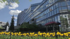 Calgary Municipal Building in Spring Stock Footage