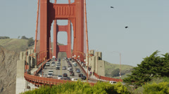 USA, California, San Francisco, Liikenne Golden Gate Bridge Arkistovideo