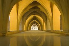 The Alcazar,arabic architecture in Sevilla, Spain - stock photo