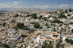 Granada,Spain,Albaicín - stock photo