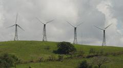 Costa Rica, Wind Turbines Stock Footage