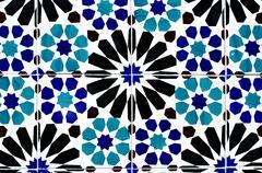 Portuguese ceramic tiles background Stock Photos