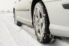Winter tyre - stock photo