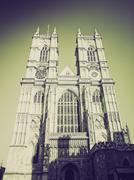 Vintage sepia Westminster Abbey Stock Photos
