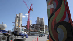 National Music Centre Construction Stock Footage