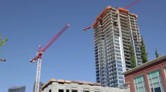 Highrise Construction Stock Footage