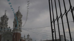 Cathedral in cloudy day Stock Footage