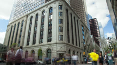 Bankers Hall Time Lapse Stock Footage