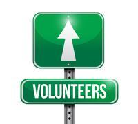 Volunteers street sign illustration design Piirros