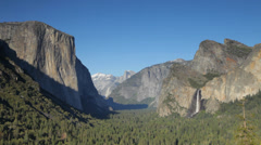 Yosemite, the Tunnel View - stock footage