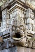 bas-relief in borobudur temple, yogyakarta, java island, indonesia - stock photo