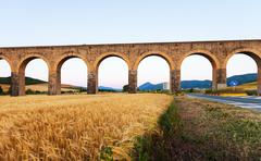 Acueducto near Noain. Navarre. Spain Stock Photos