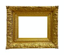 Luxury gold picture frame - stock photo