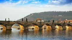 Charles bridge. Prague, Czech Republic Stock Photos
