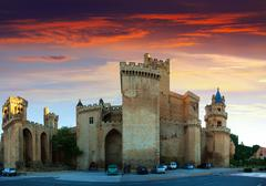 Palace of the Kings of Navarre at Olite - stock photo