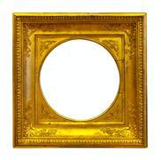 Circle kulta kuvakehys Kuvituskuvat