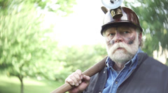 Coal miner epic shot Stock Footage