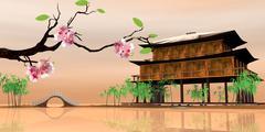 Stock Illustration of Beautiful sakura season
