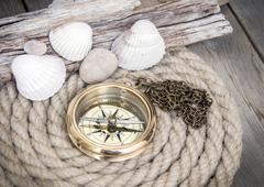 sea adventures background - stock photo