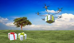 Stock Illustration of fast package deliver