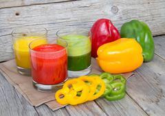 fresh paprika smoothie juice - stock photo