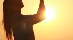 prayer - stock footage