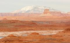 Lake powell smokey mountain utah arizona border red rock landscape Stock Photos