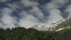 Wide shot/time lapse of clouds over the Swiss Alps, Switzerland Stock Footage