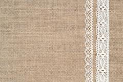 Burlap background with lac - stock photo