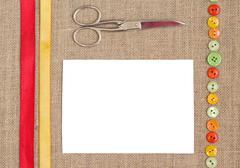 Sewing set background - stock photo