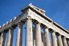 parthenon on the acropolis in athens - stock photo