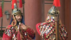 Deoksugung Palace Guard Change. Seoul. Stock Footage