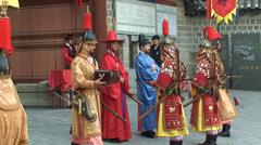 Deoksugung Palace Guard Change. Seoul. Stock Footage