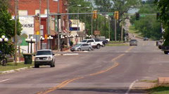 Rural Small Town Main Street Stock Footage