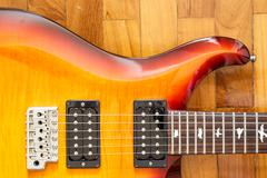 electric guitar cutwat sunburst colour - stock photo