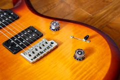 electric guitar cutwat sunburst colour - stock photo