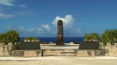 Banzai Cliff Japanese monuments. Saipan. Stock Footage