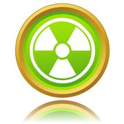 atomic icon - stock illustration
